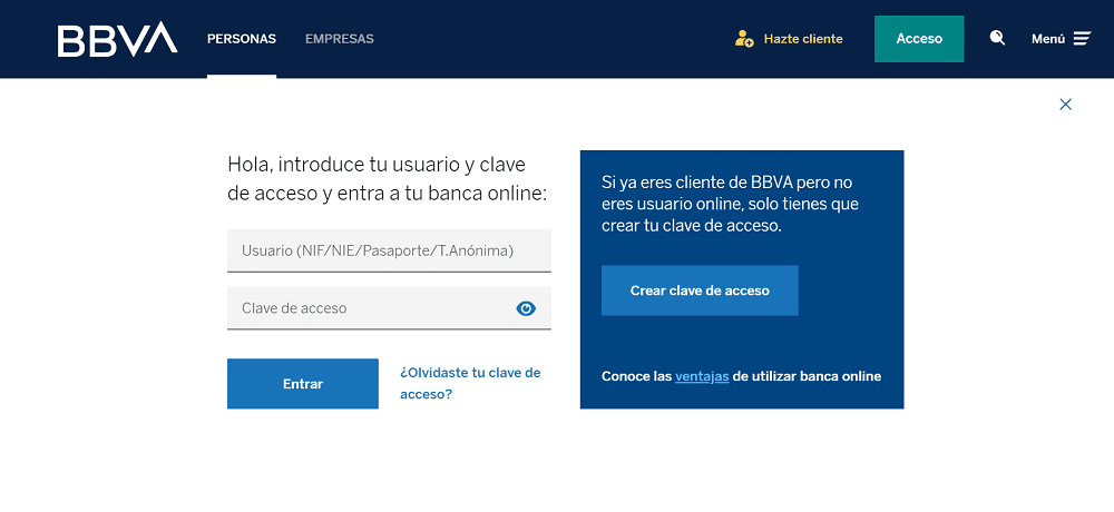 web login bbva